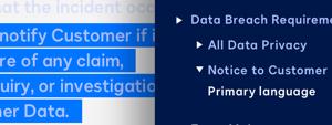 Screenshot der Klauselbibliothek von DocuSign Analyzer