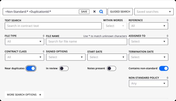 Erhalten Sie schneller Antworten mit der KI-gestützten Suchfunktion von DocuSign Insight.
