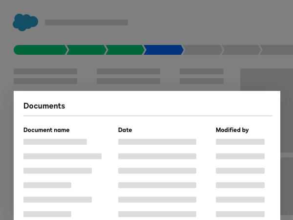 Screenshot der Salesforce-Integration mit DocuSign CLM