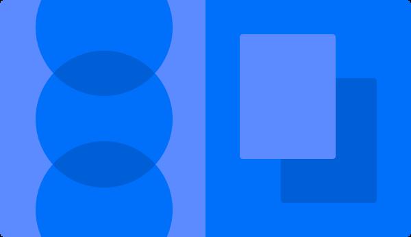 Abstraktes Blaues Bild