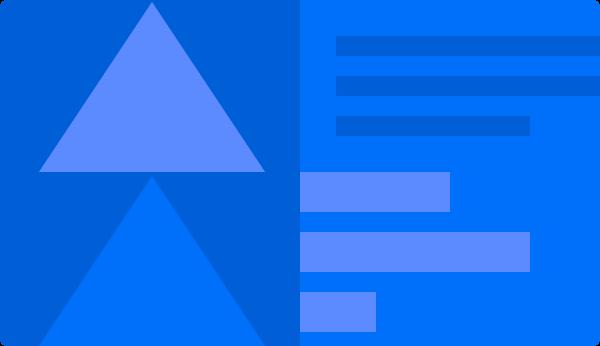 Abstraktes blaues Bild mit Dreiecken