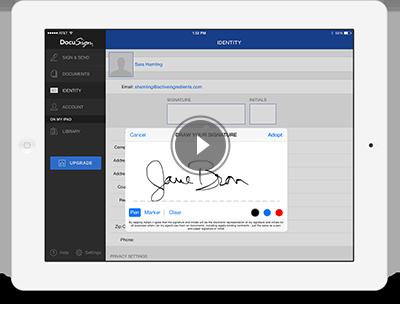 PDF online unterschreiben - so funktioniert DocuSign