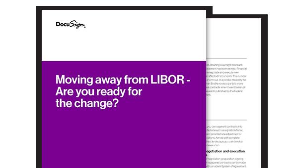 Die Vorder- und und Rückseite des LIBOR Whitepapers.
