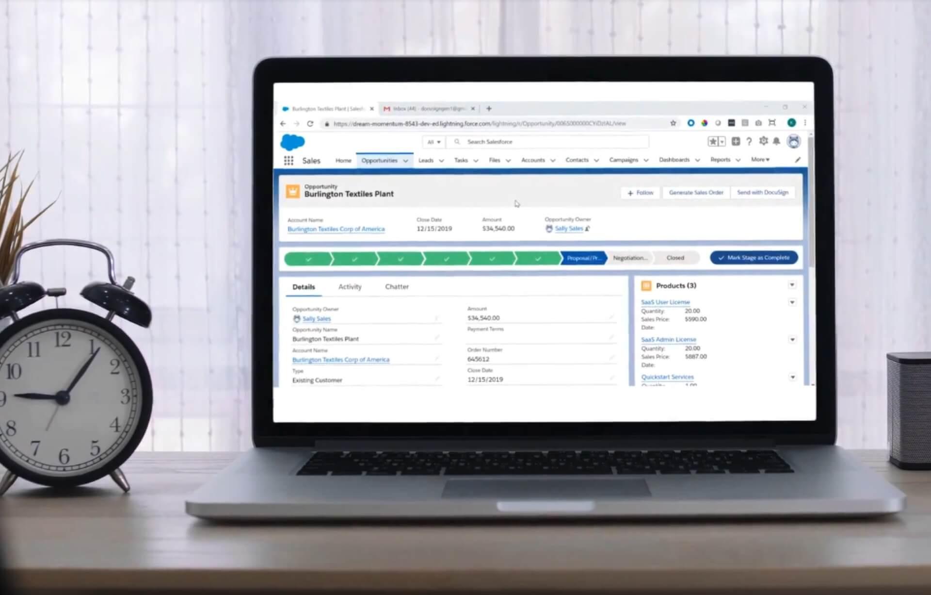 Ein Anwendungs-Dashboard in einem Webbrowser.