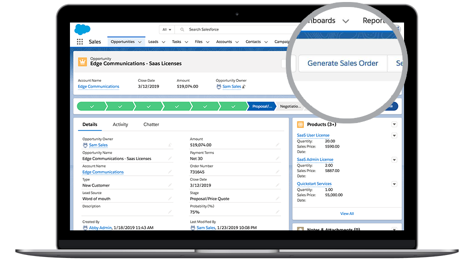 Screenshot von DocuSign Gen für Salesforce