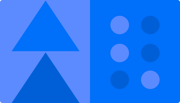 Blauer Hintergrund mit Mustern