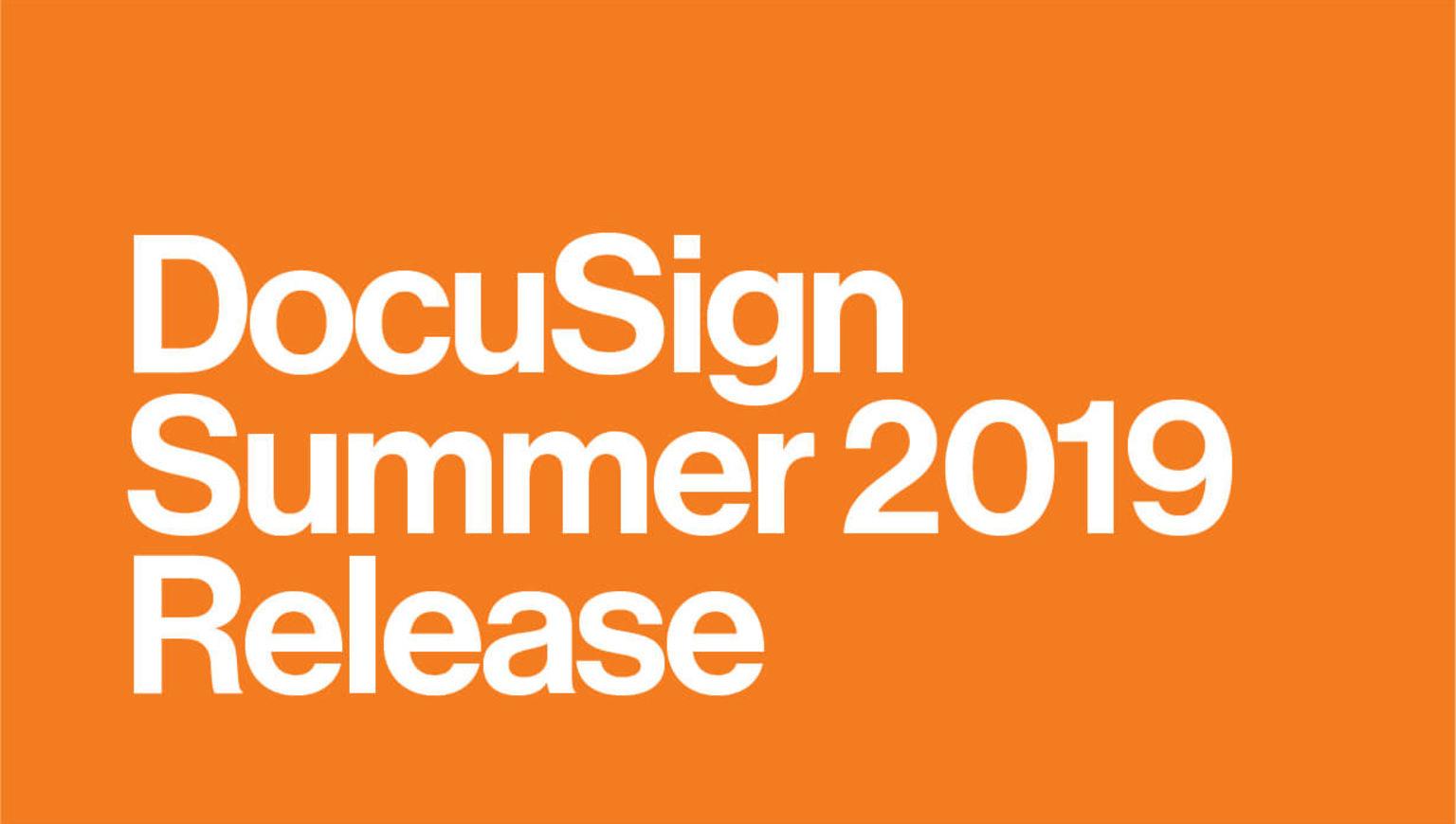 DocuSign Agreement Cloud Update